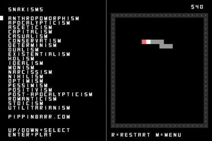 Snakisms, 21 corrientes filosóficas basadas en el juego de Snake