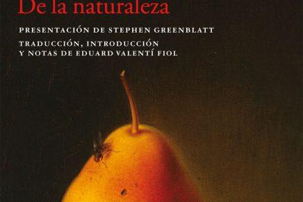De Rerum Natura, de Lucrecio, a càrrec de Martí Domínguez | 9 juny 2018 19 h. #Avivament2018