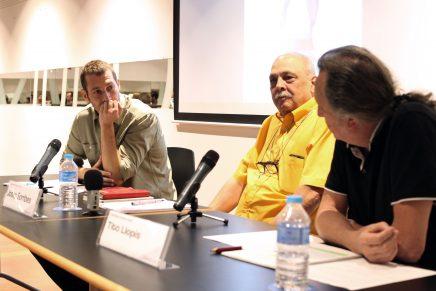 Fotos mesa redonda Estudiar la ciudad, con Antonio Hidalgo, Tito Llopis y Josep Sorribes #LaCiutatPensada